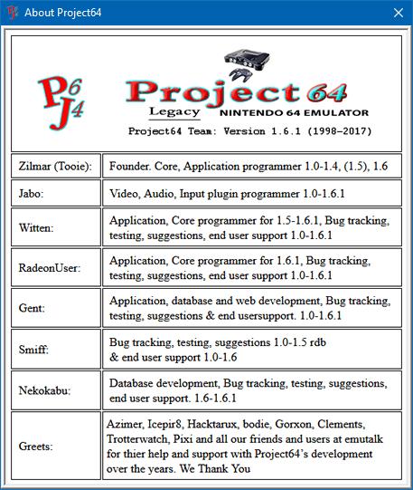 des jeux pour project64 1.6